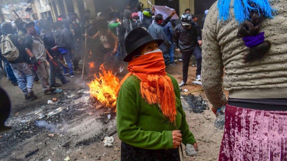 Manifestación en Ecuador