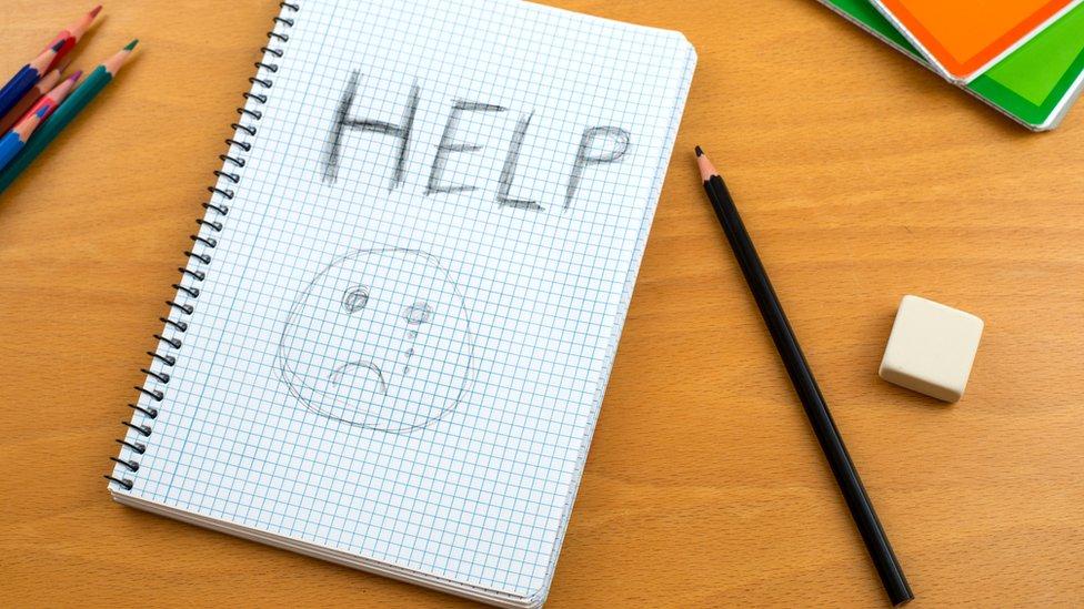 Help written in notebook