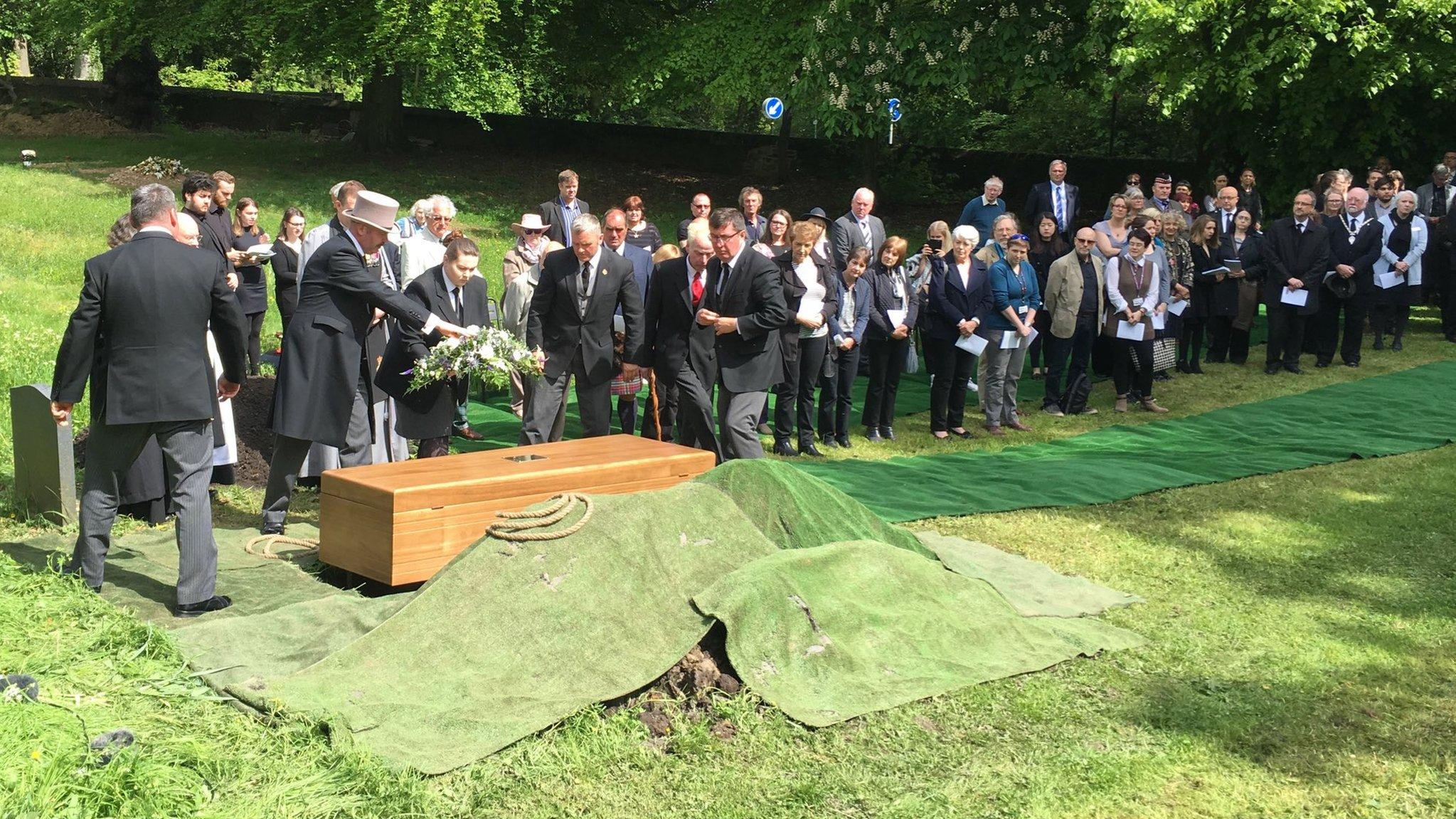 Scottish soil for Civil War POW Durham reburial