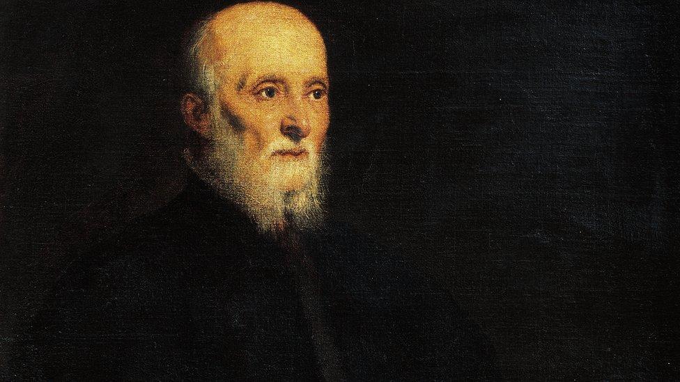Luigi Cornaro, retratado por Tintoretto circa 1562-1565