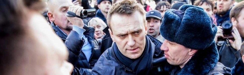 Alexei Navalny detained on Sunday