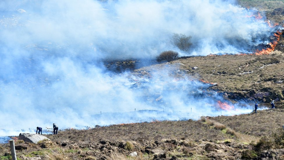 Donegal gorse fire