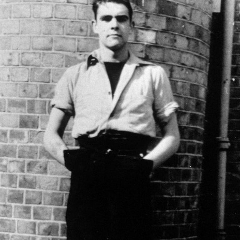 Sean Connery cuando era joven
