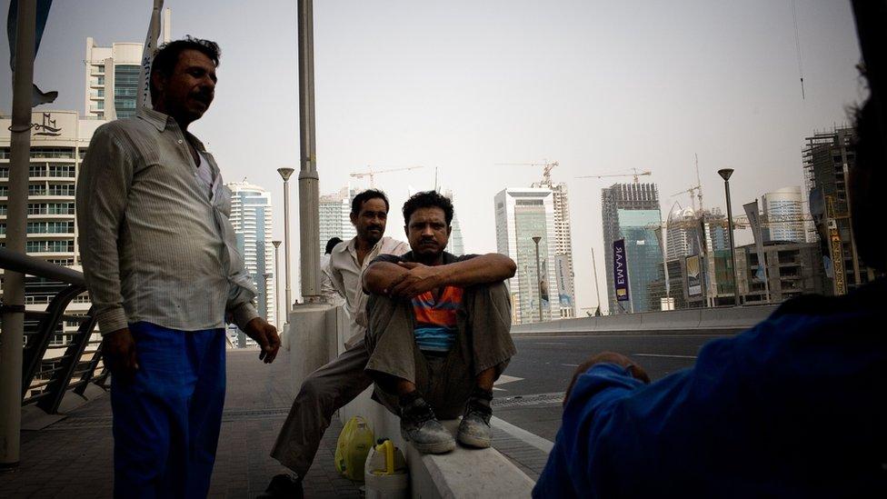 Trabajadores migrantes indios en Dubái