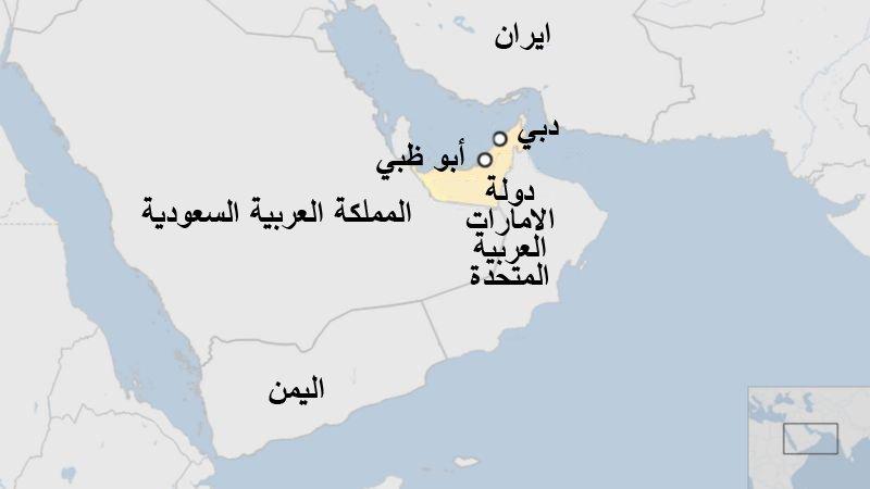 خارطة الإمارات
