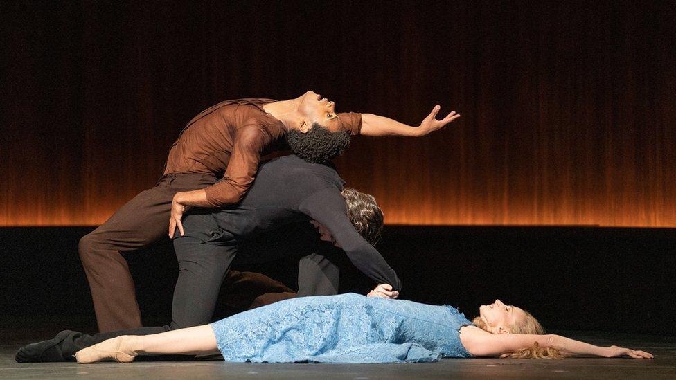 Dancers in The Cellist ballet