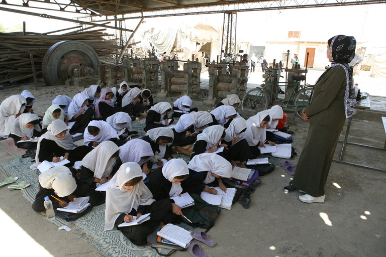Students at a school in Kabul