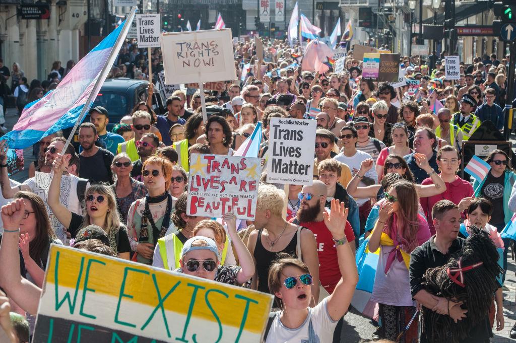Trans pride parade in London, 2019