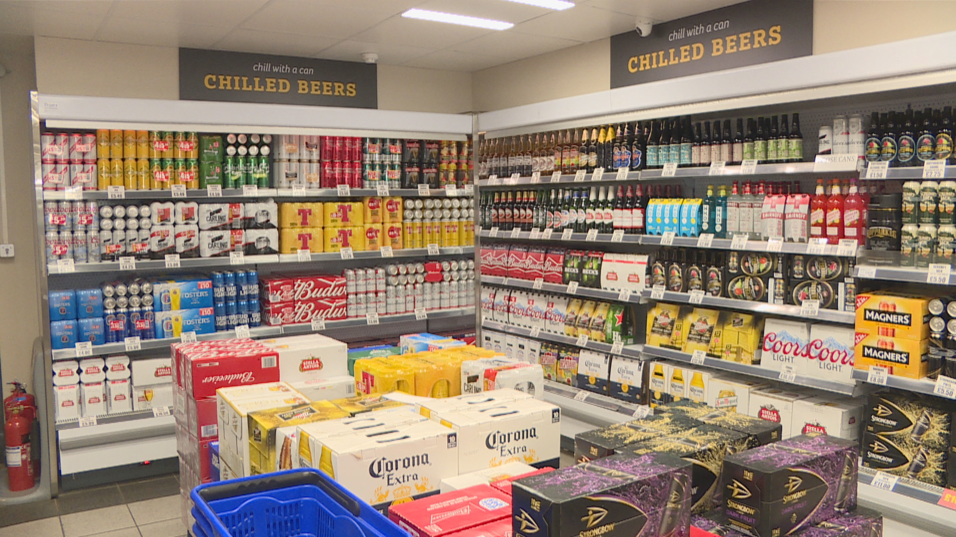 Alcohol in store