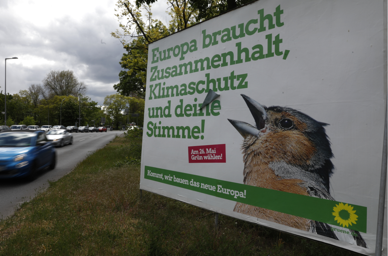 Green party poster in Berlin, May 2019