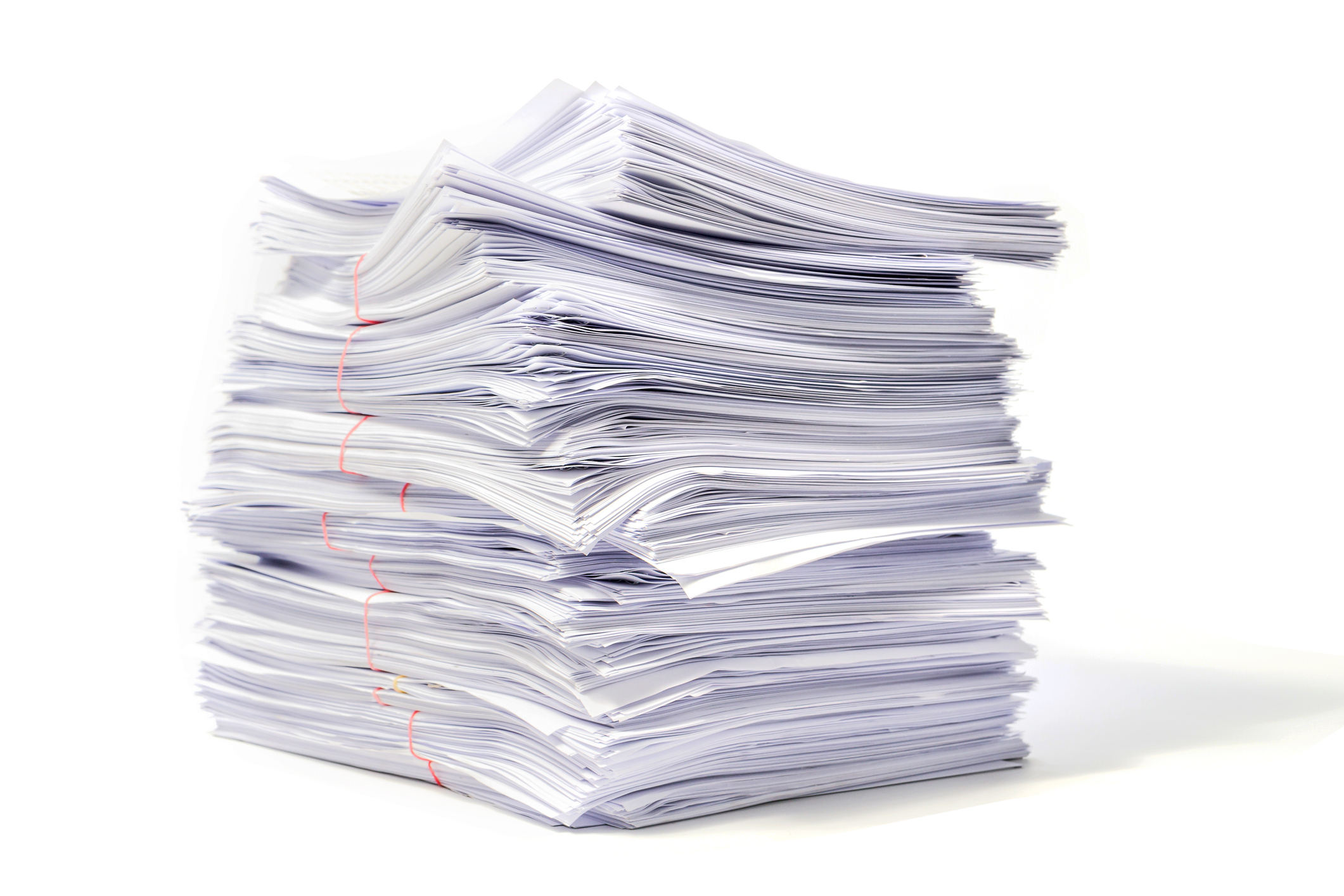 A big pile of papers