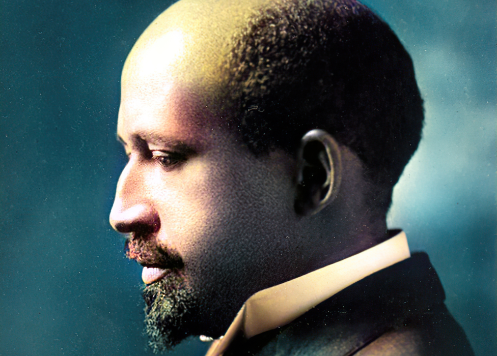 WEB Du Bois, 1911 - image has been digitally colorised using a modern process