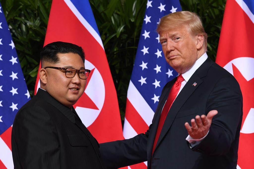 Kim Jong-Un and President Trump meeting in Singapore
