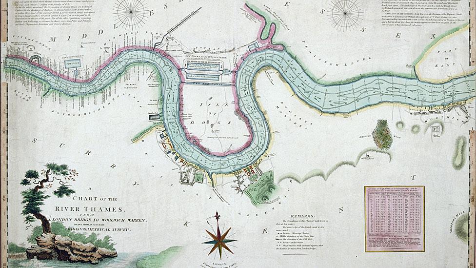 Río Támesis 1802