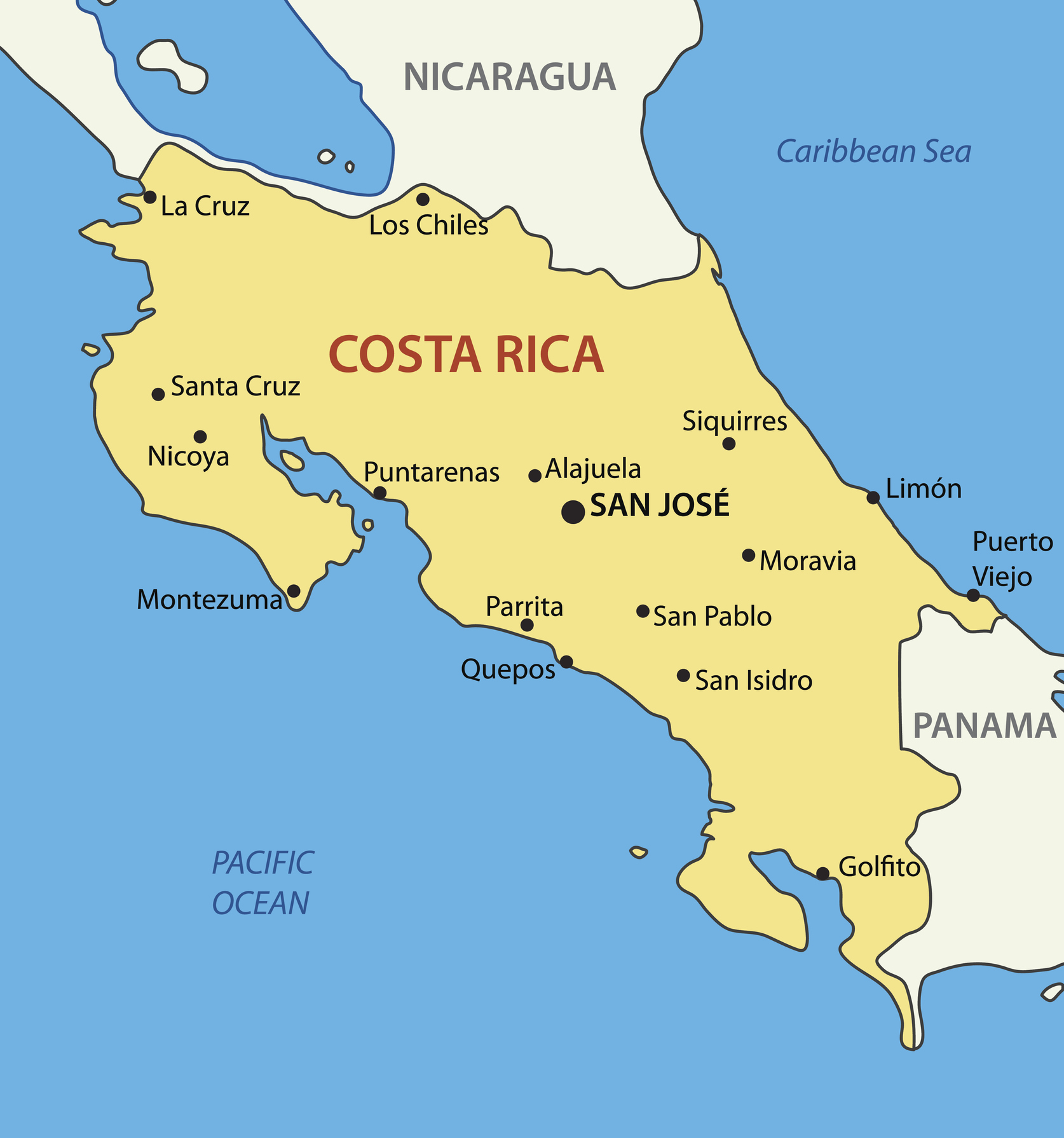 Mapa de Costa Rica