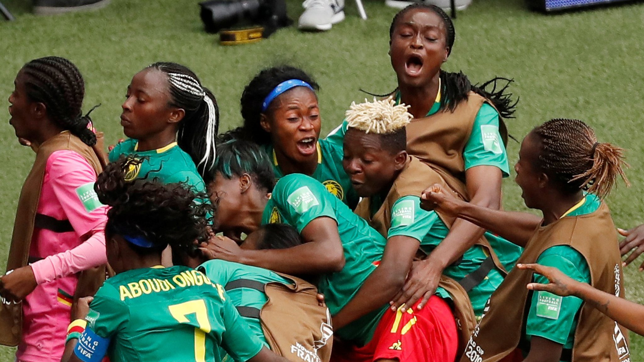 Cameroon through after late winner