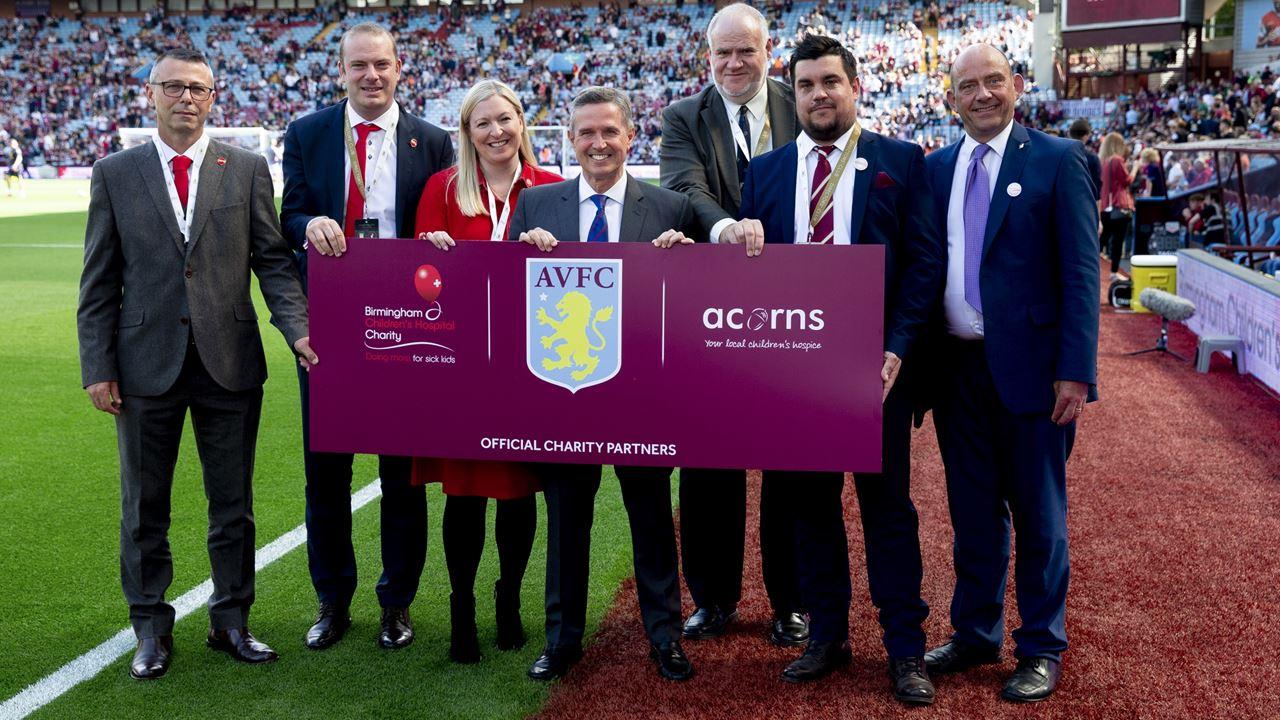 Villa partners with Acorns Hospice and Birmingham Children's