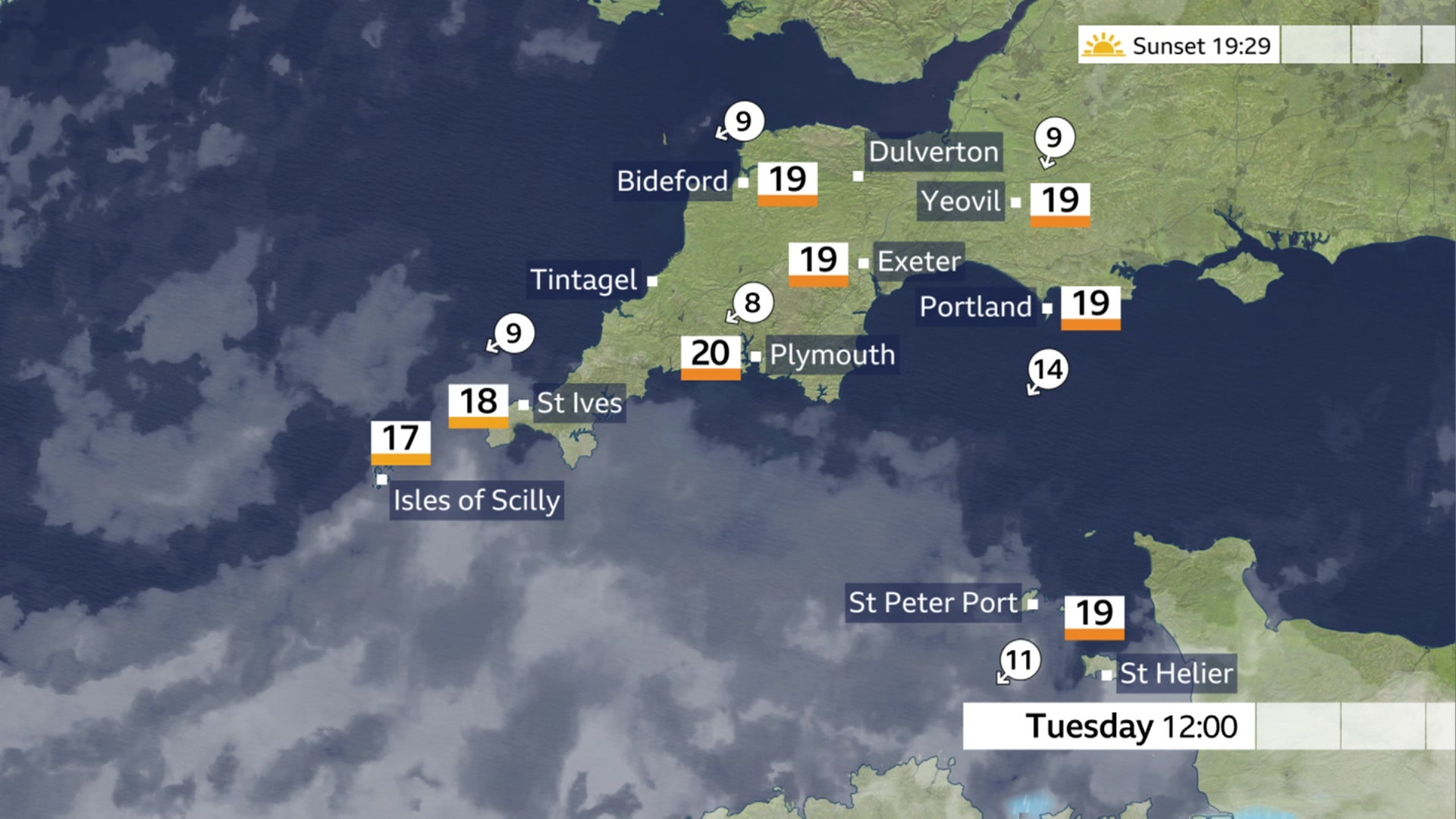Devon and Cornwall weather: A dry day with sunny spells